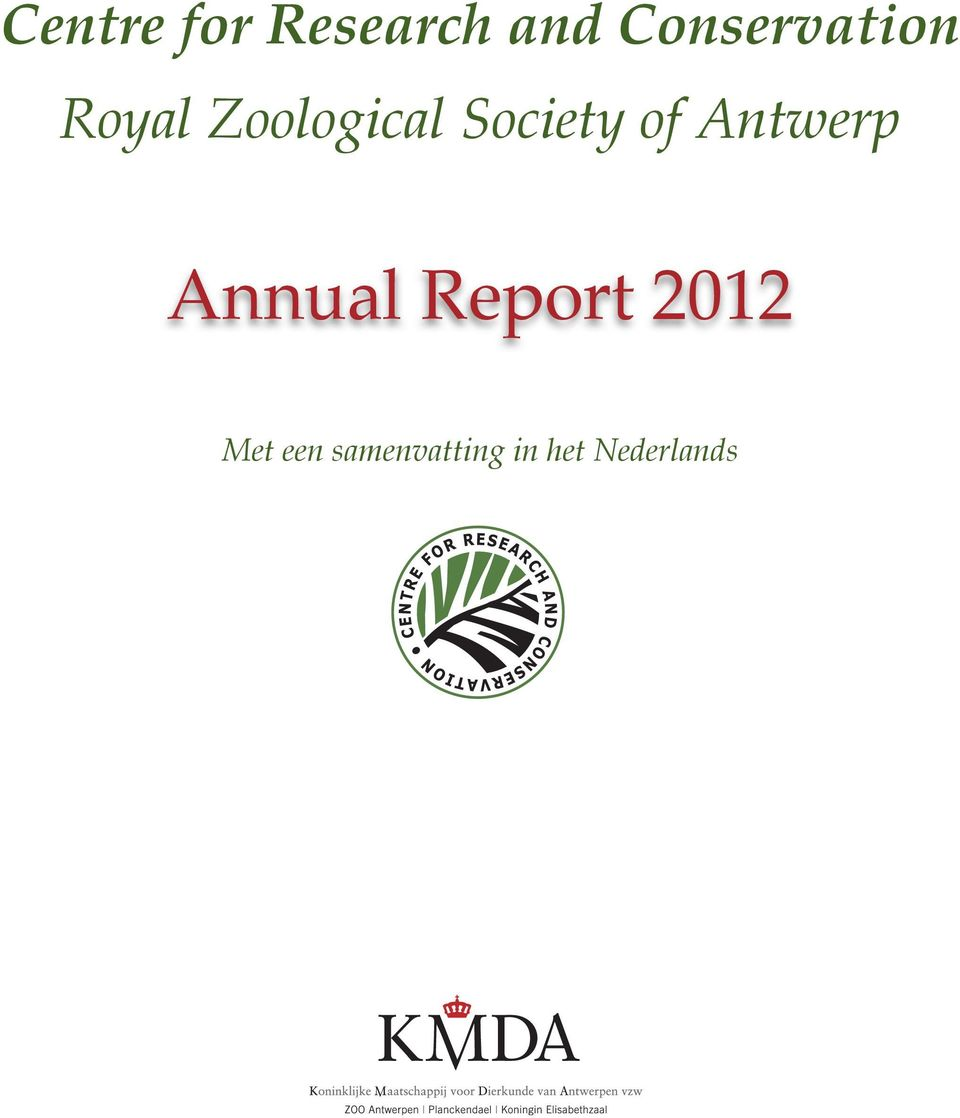 Zoological Society of Antwerp Annual