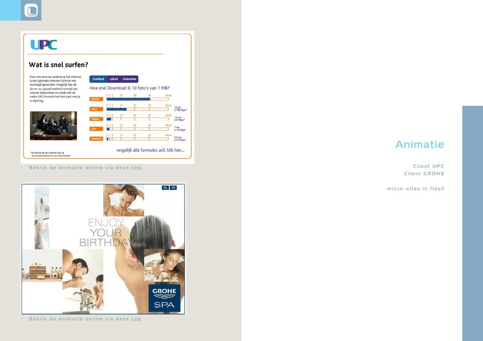 Client GROHE micro-sites in flash