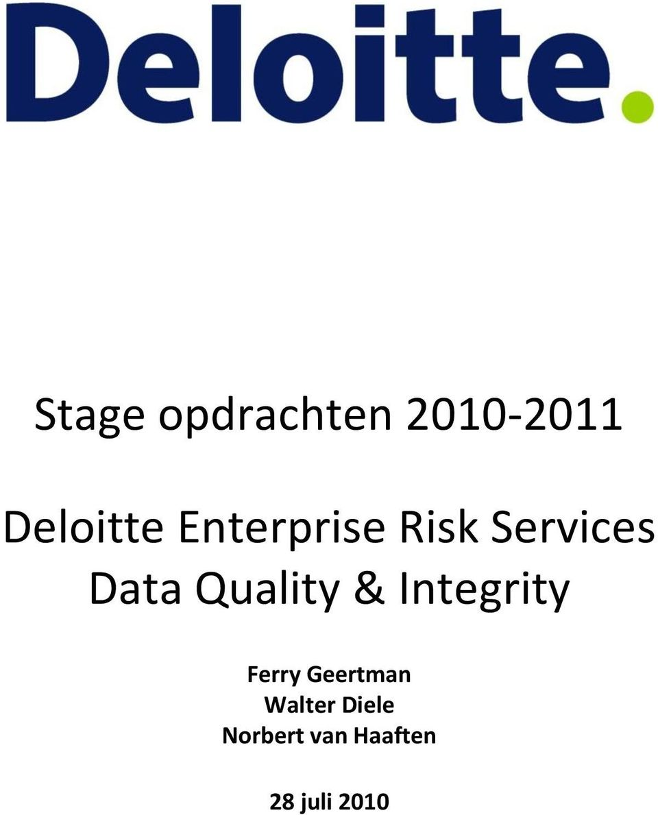 Quality & Integrity Ferry Geertman