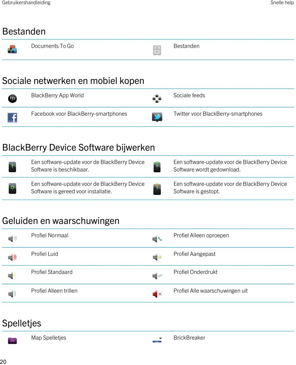 Een software-update voor de BlackBerry Device Software is gereed voor installatie. Een software-update voor de BlackBerry Device Software wordt gedownload.