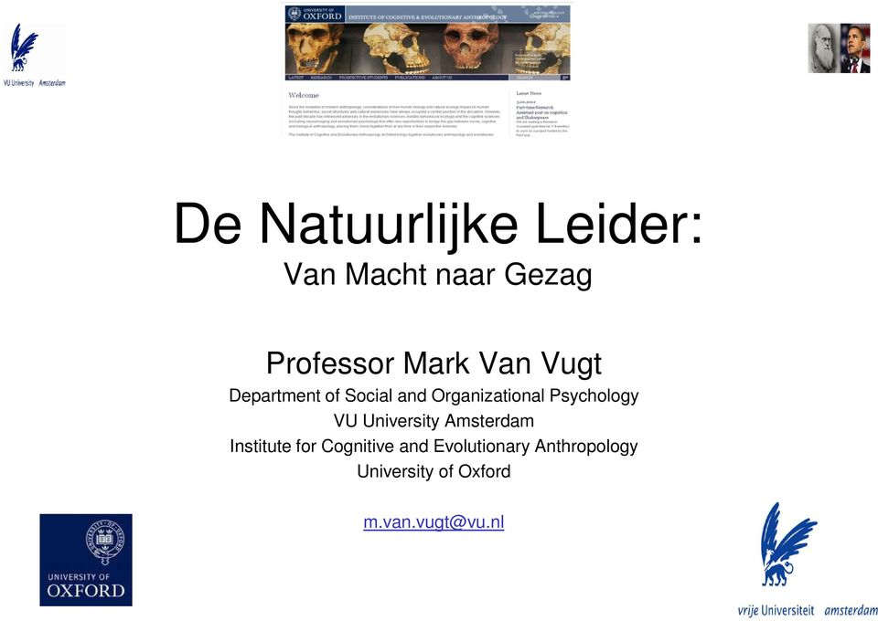 Psychology VU University Amsterdam Institute for Cognitive