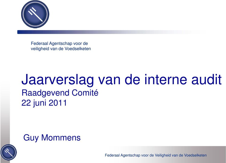 Jaarverslag van de interne audit