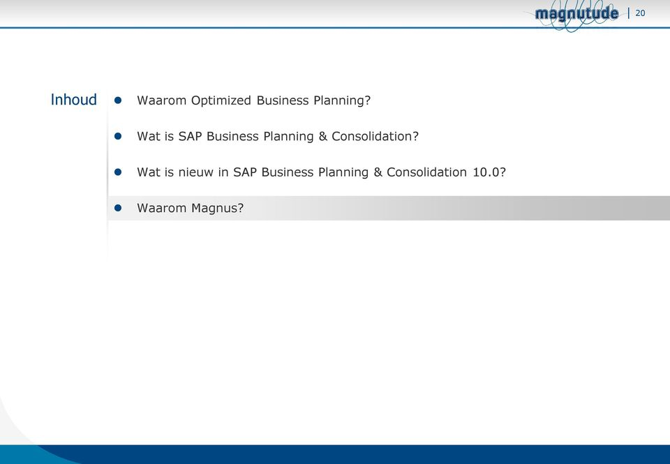 Wat is SAP Business Planning &