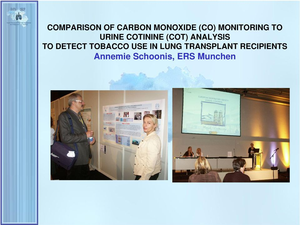 ANALYSIS TO DETECT TOBACCO USE IN LUNG