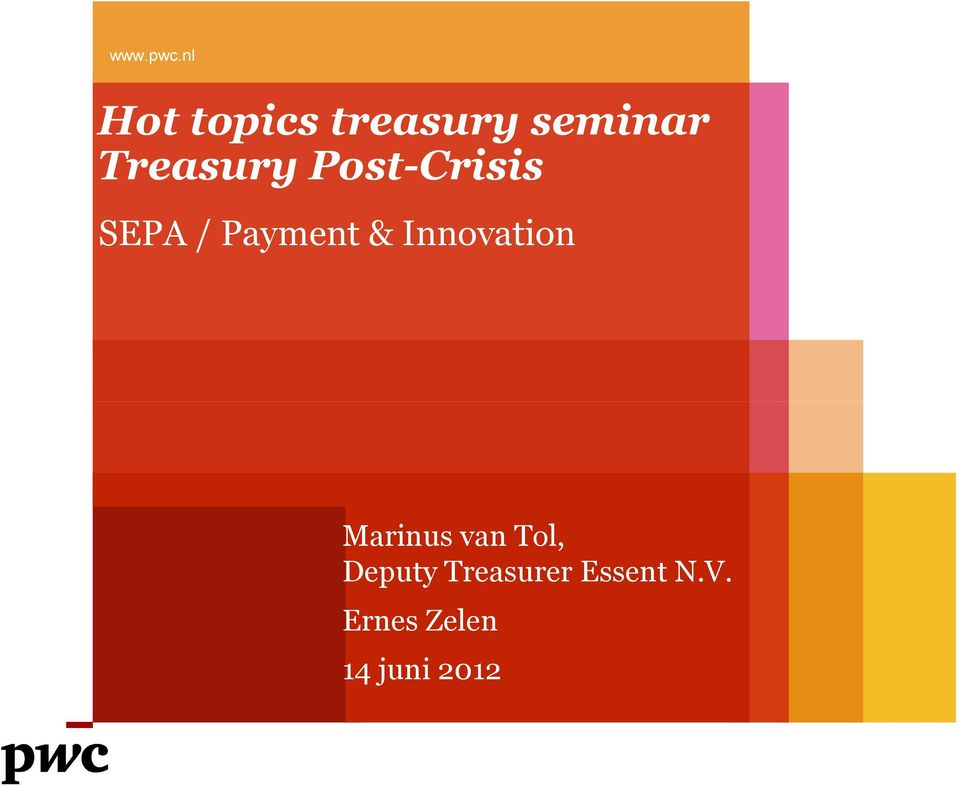 Post-Crisis SEPA / Payment & Innovation