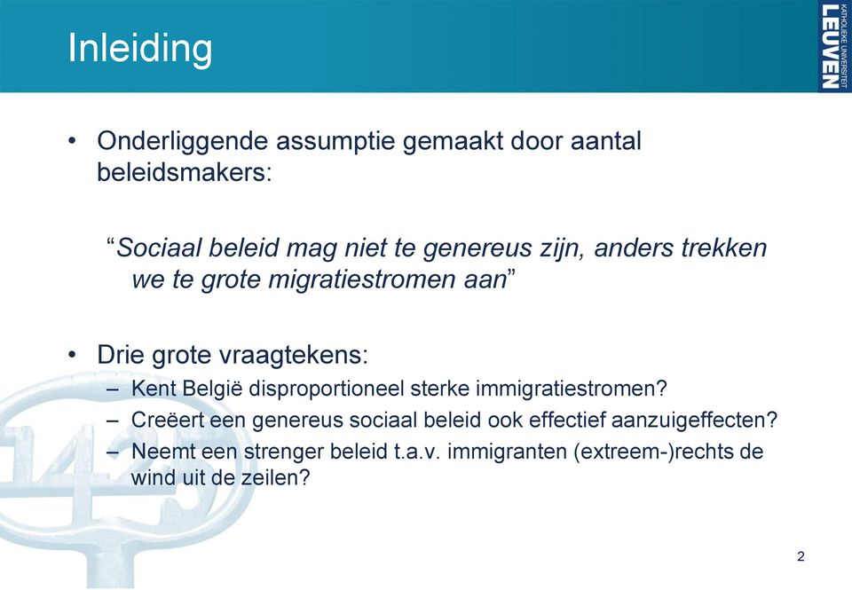 disproportioneel sterke immigratiestromen?