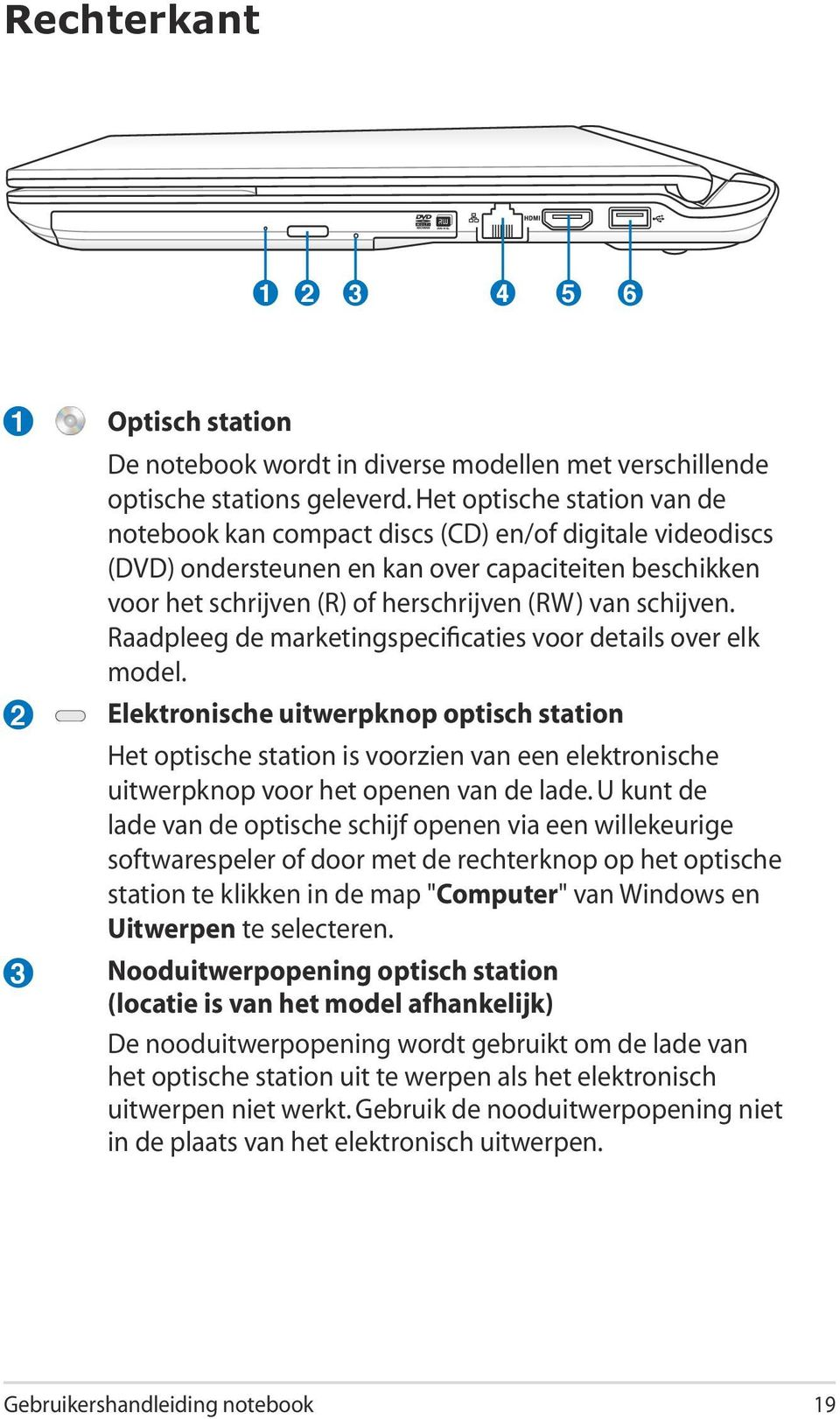 Raadpleeg de marketingspecificaties voor details over elk model.