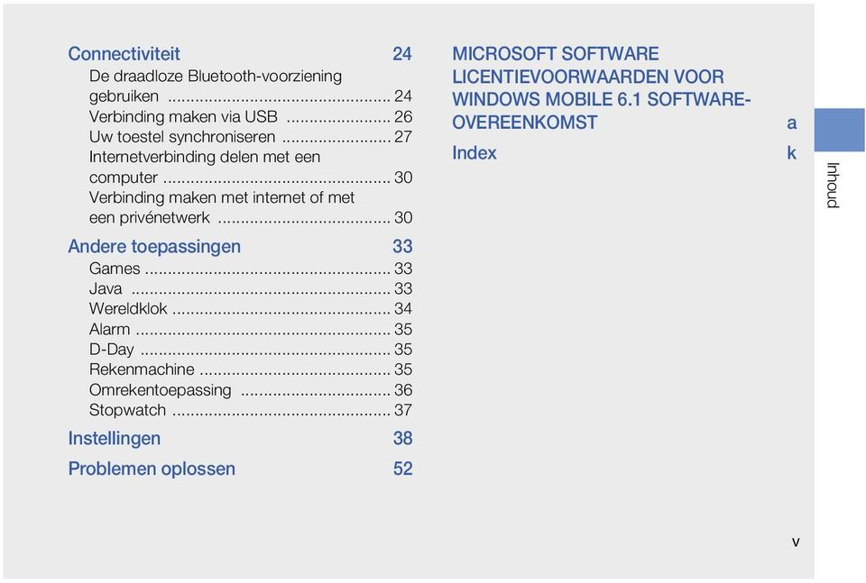 .. 30 MICROSOFT SOFTWARE LICENTIEVOORWAARDEN VOOR WINDOWS MOBILE 6.