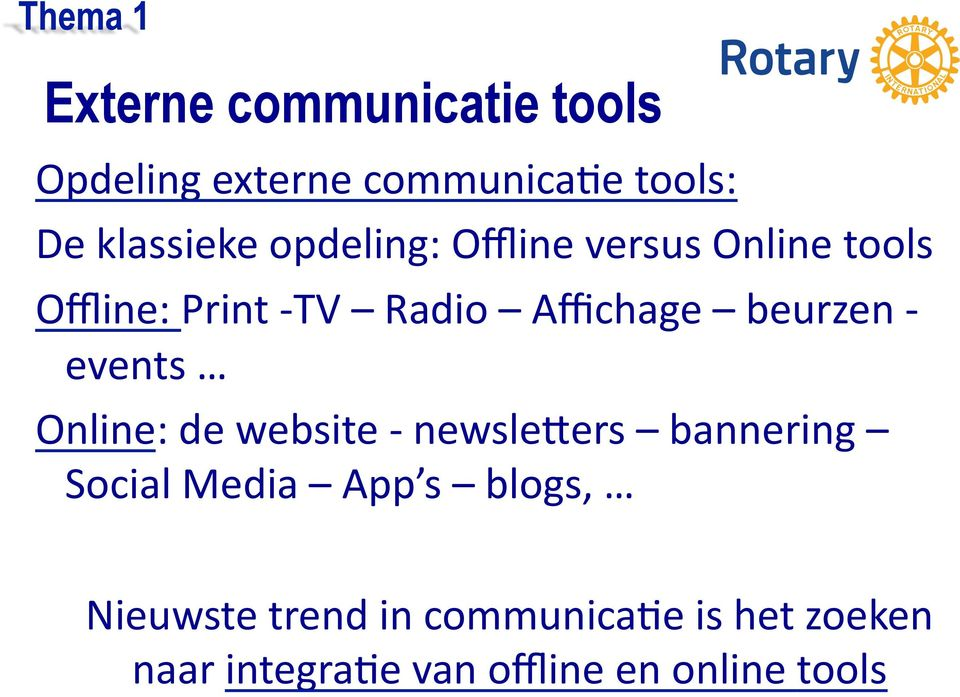 beurzen - events Online: de website - newslemers bannering Social Media App s