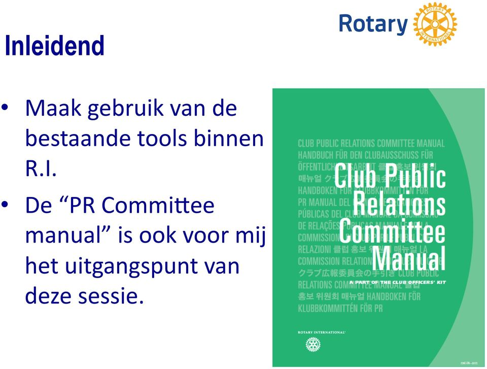 De PR CommiMee manual is ook