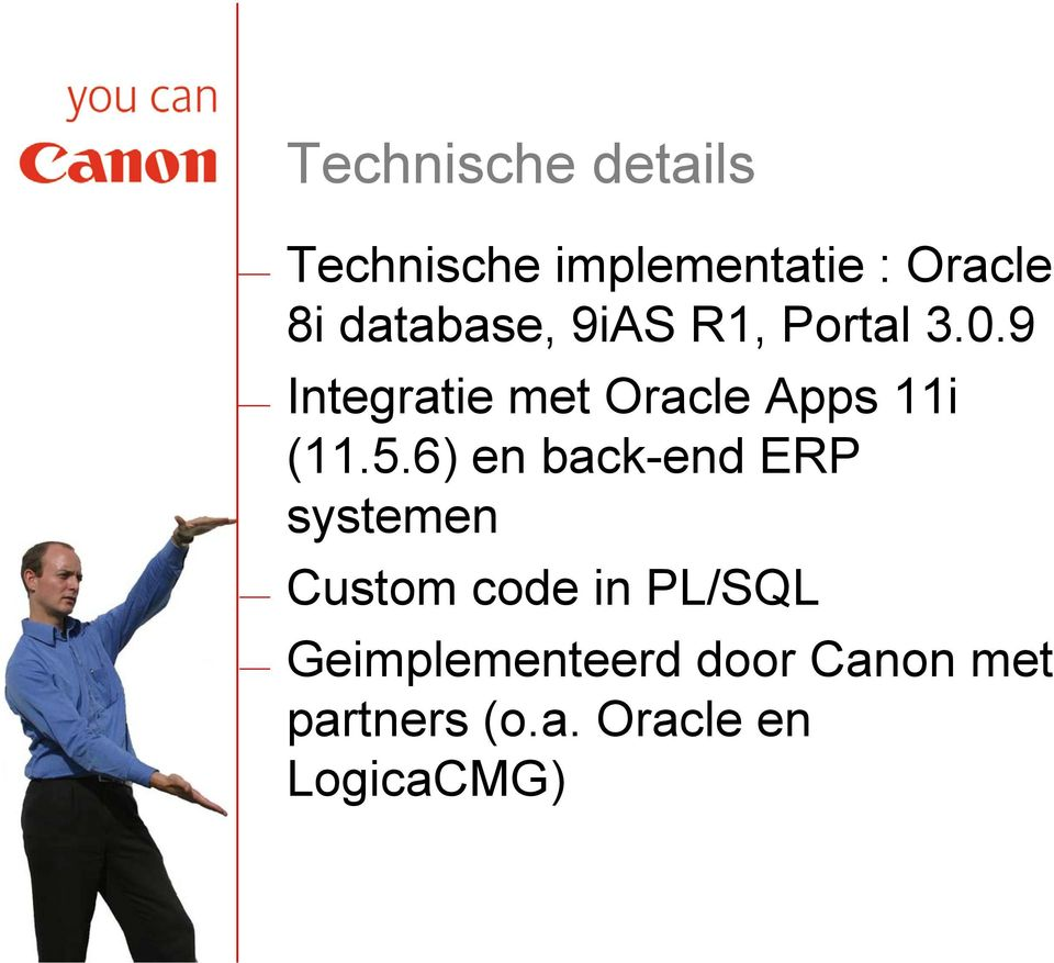 9 Integratie met Oracle Apps 11i (11.5.