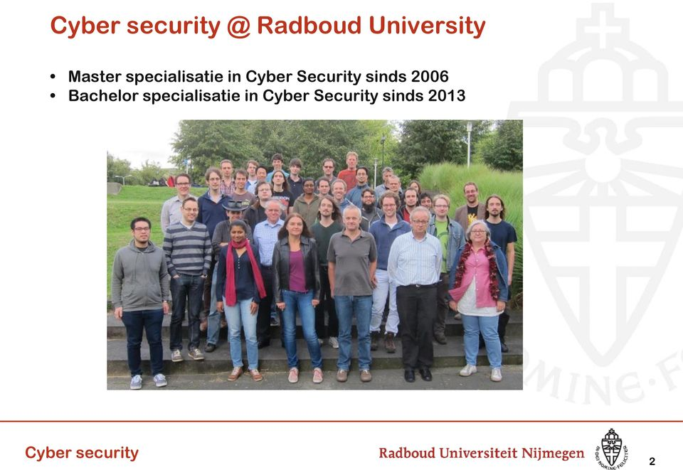 Security sinds 2006 Bachelor