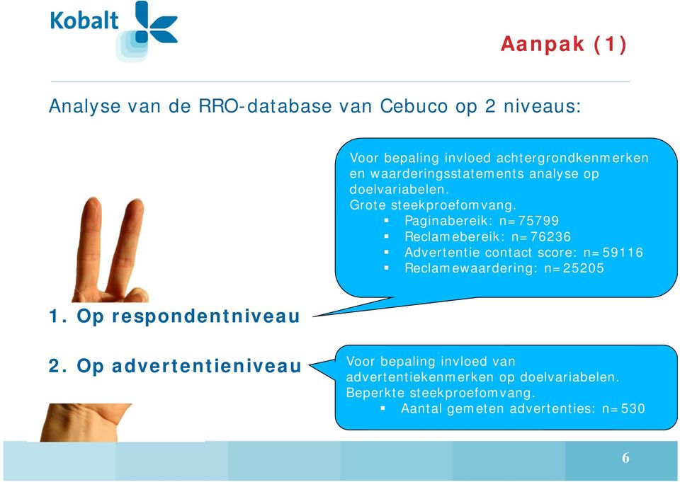 Paginabereik: n=75799 Reclamebereik: n=76236 Advertentie contact score: n=59116 Reclamewaardering: n=25205 1.