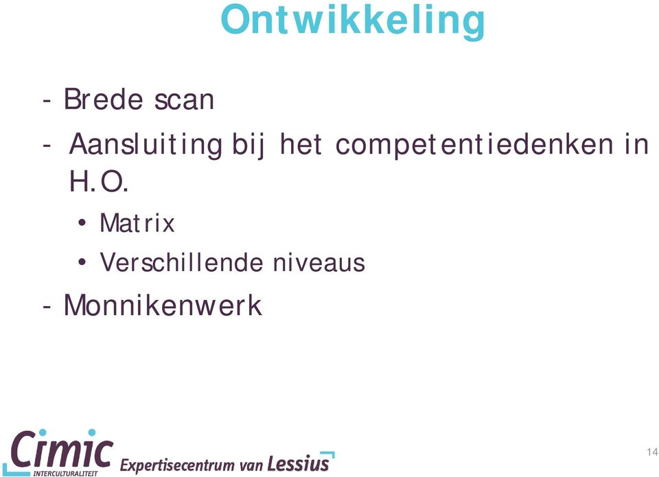 competentiedenken in H.O.