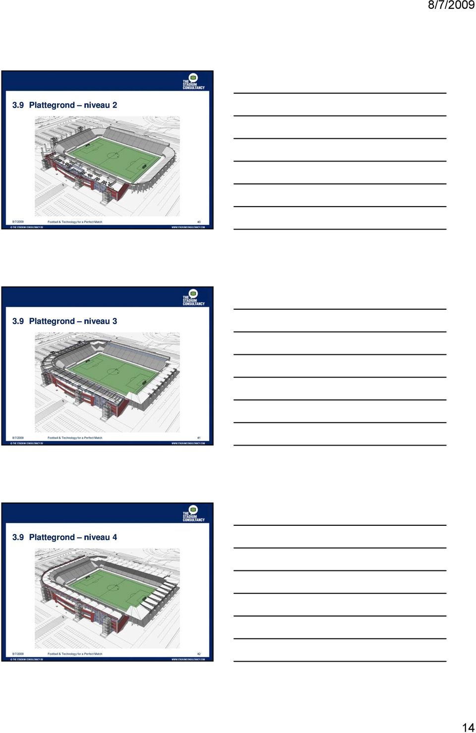 9 Plattegrond niveau 3 8/7/2009 Football & Technology for a