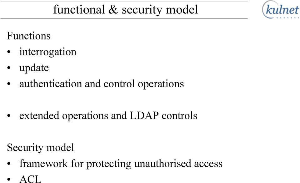 operations extended operations and LDAP controls