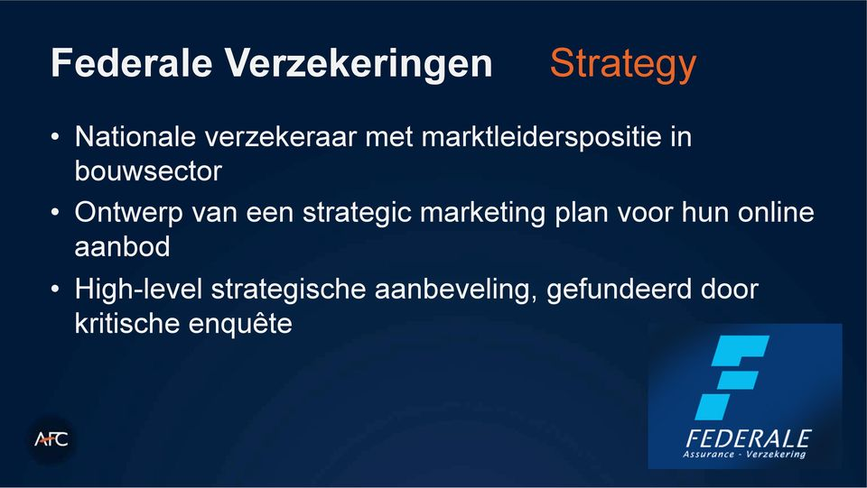 strategic marketing plan voor hun online aanbod