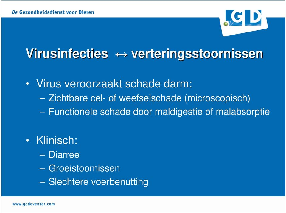 (microscopisch) Functionele schade door maldigestie of