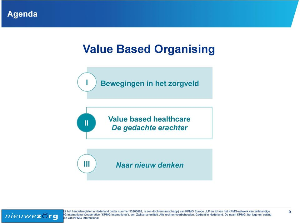 Value based healthcare De
