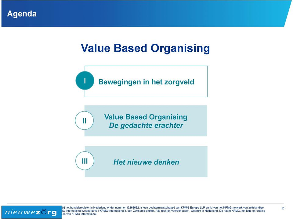 Value Based Organising De
