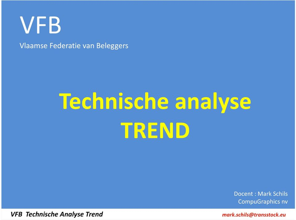 analyse TREND Docent :