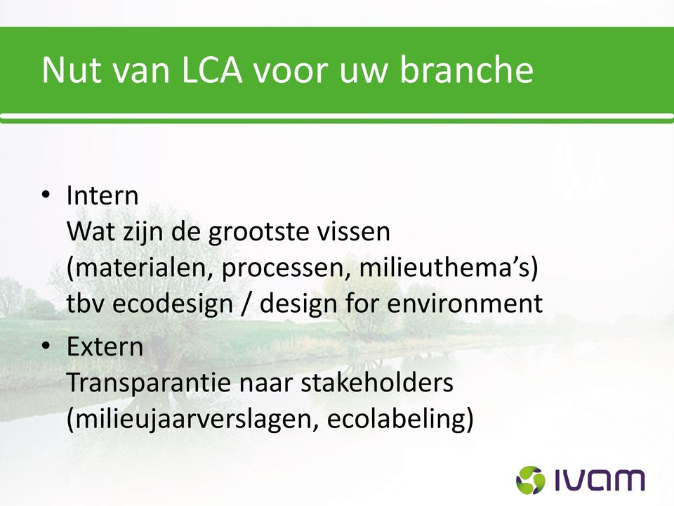 s) tbv ecodesign / design for environment Extern