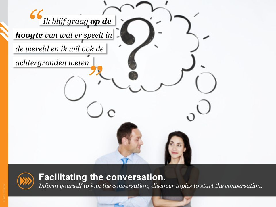 Facilitating the conversation.