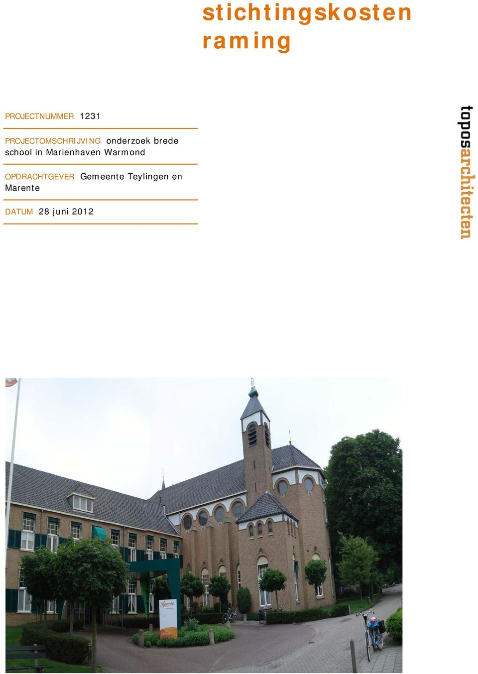 brede school in Marienhaven Warmond