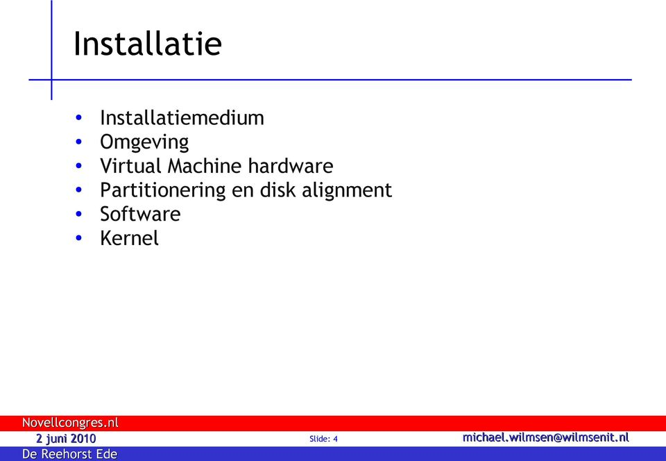 hardware Partitionering en