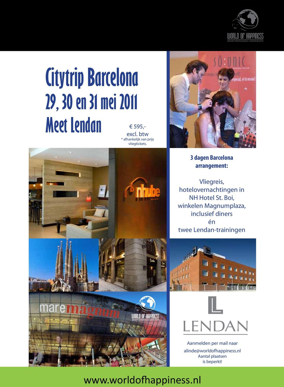 3 dagen Barcelona arrangement: Vliegreis, hotelovernachtingen in NH Hotel St.