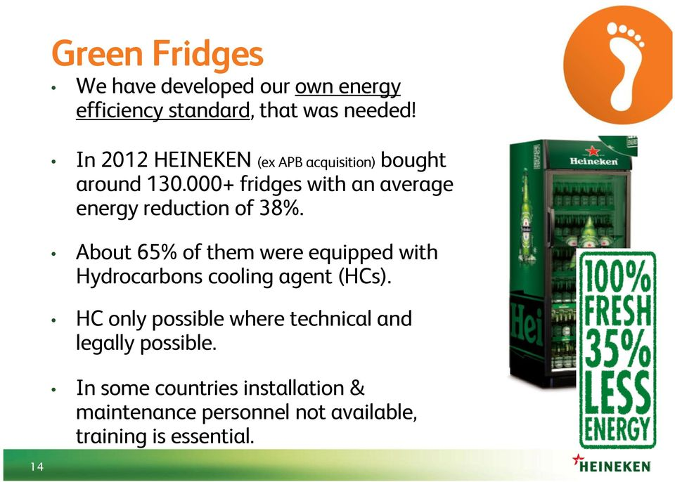 000+ fridges with an average energy reduction of 38%.