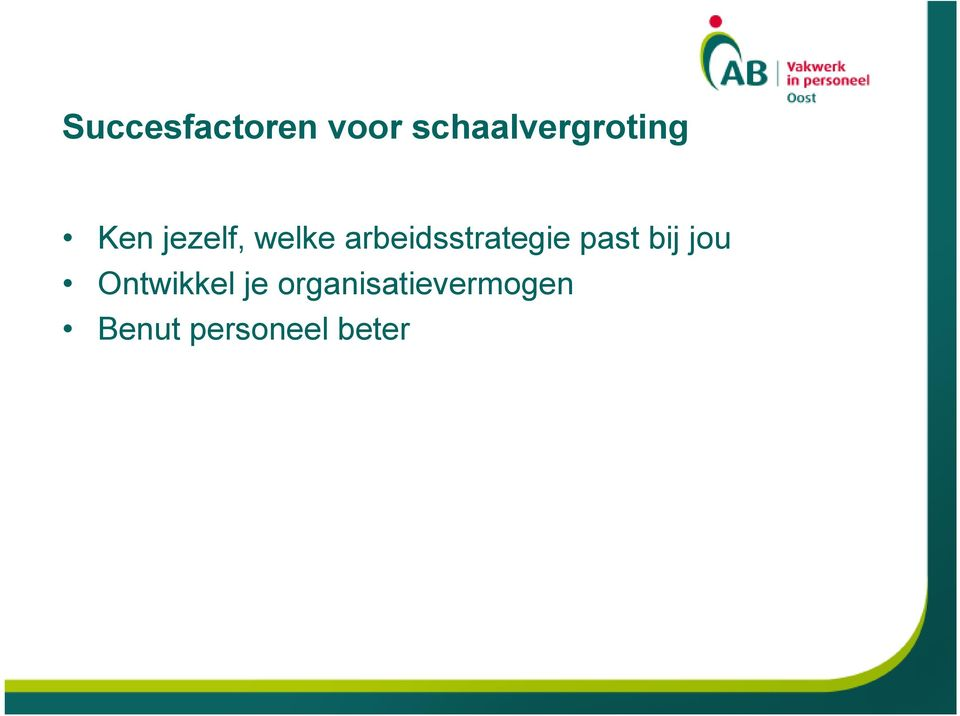 arbeidsstrategie past bij jou