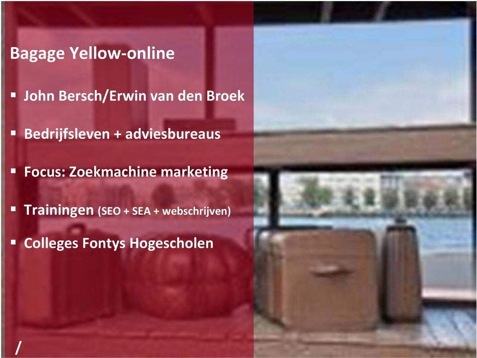 Focus: Zoekmachine marketing Trainingen (SEO
