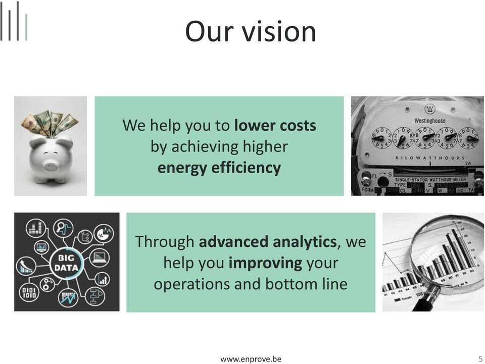 advanced analytics, we help you improving