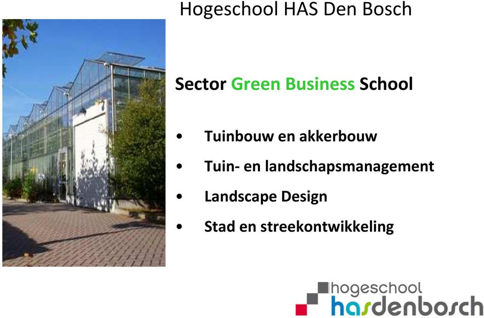 Tuin- en landschapsmanagement