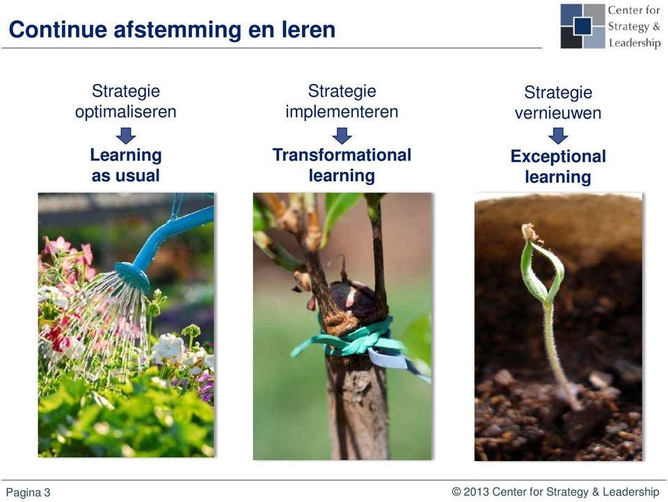 implementeren Transformational learning