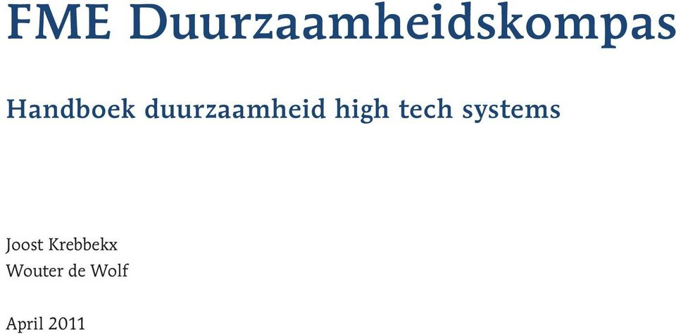 high tech systems Joost