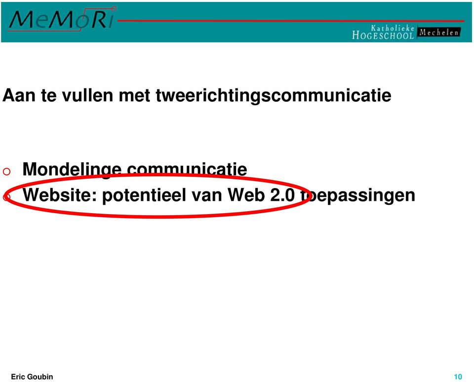 Mondelinge communicatie