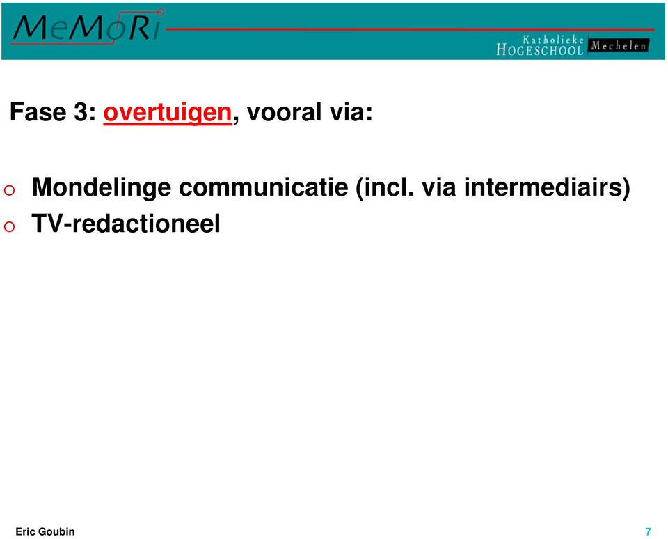 communicatie (incl.