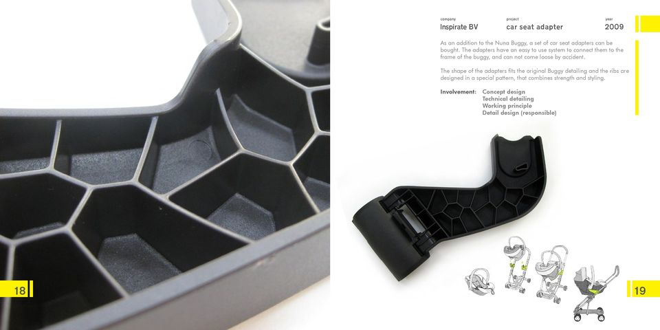 The adapters have an easy to use system to connect them to the frame of the buggy, and can not come loose by accident.