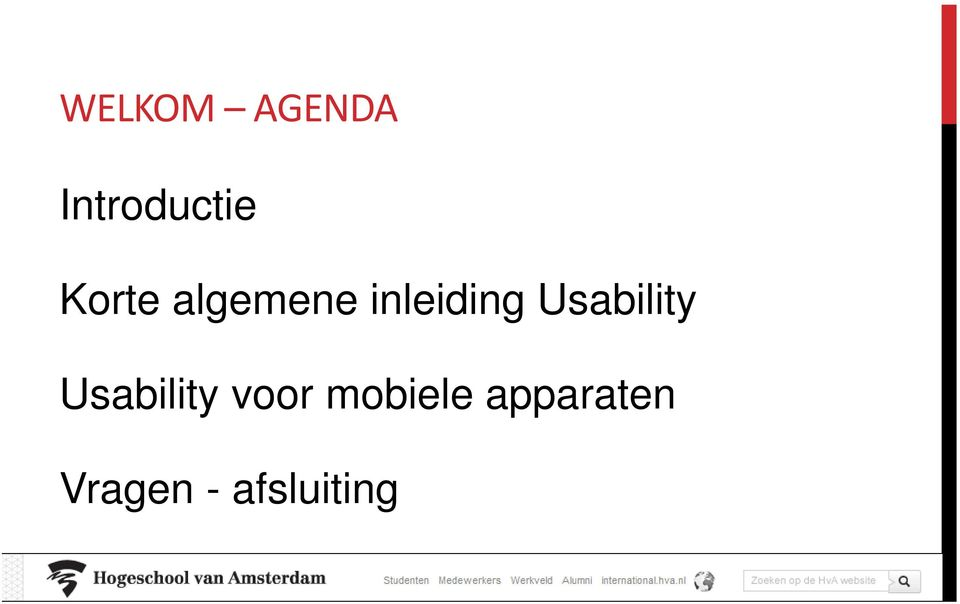 Usability Usability voor