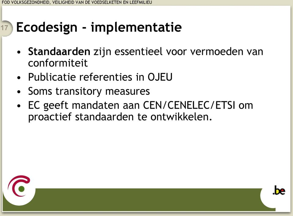 referenties in OJEU Soms transitory measures EC geeft