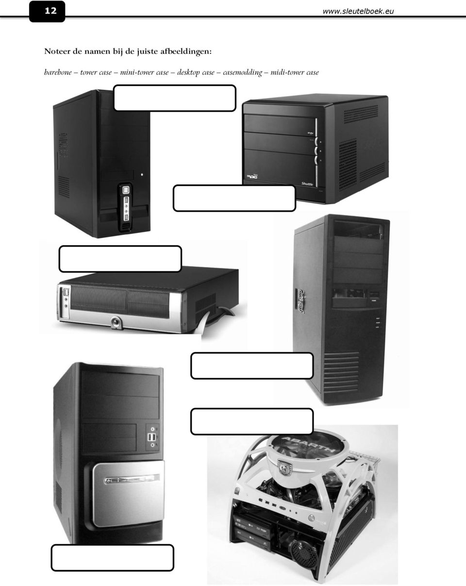 afbeeldingen: barebone tower case