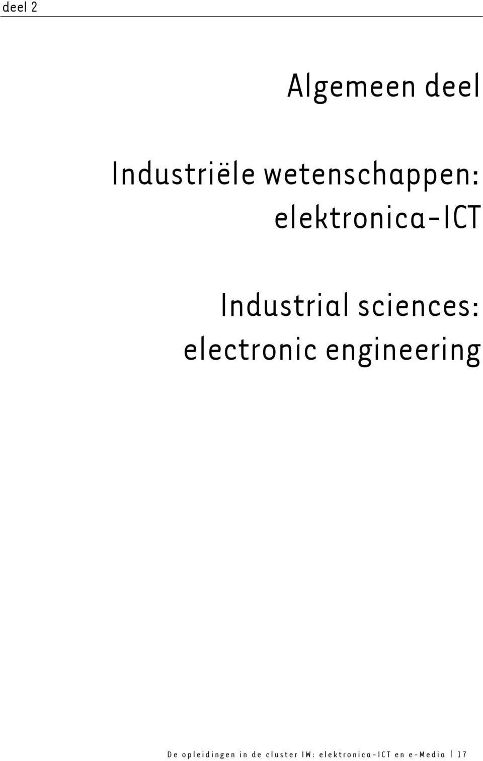sciences: electronic engineering De