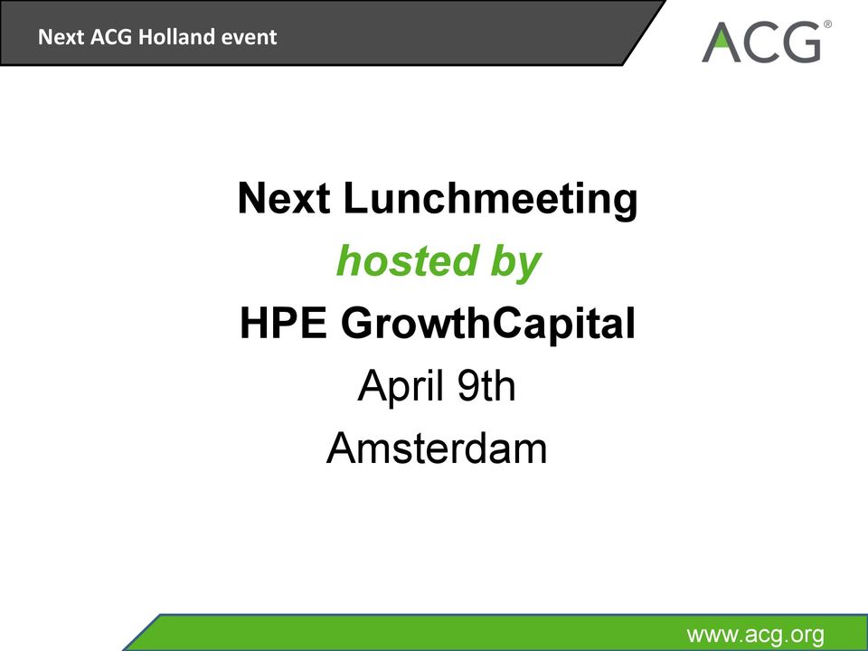 by HPE GrowthCapital