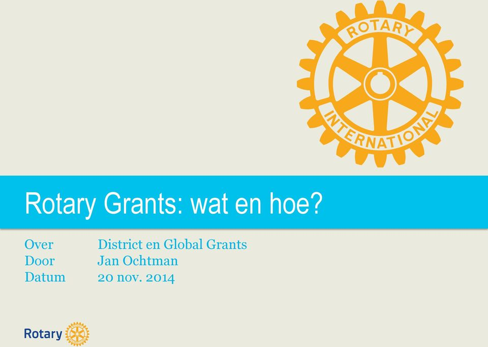 Global Grants Door Jan