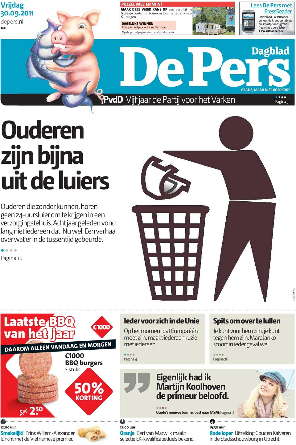 Lees De Pers met PressReader Download PressReader en lees de krant op tablets en smartphones gratis (registratie verplicht) PressReader.