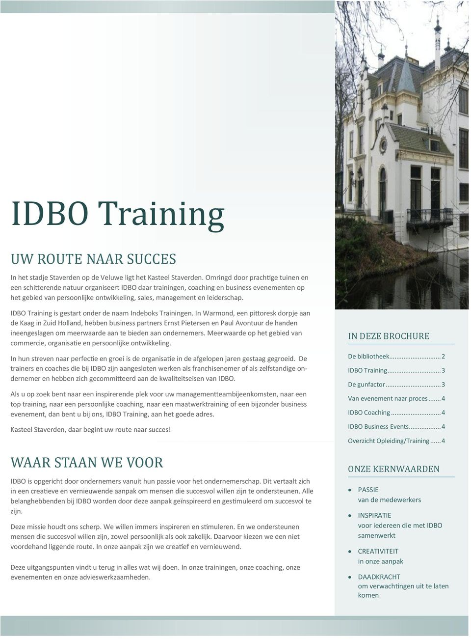 leiderschap. IDBO Training is gestart onder de naam Indeboks Trainingen.