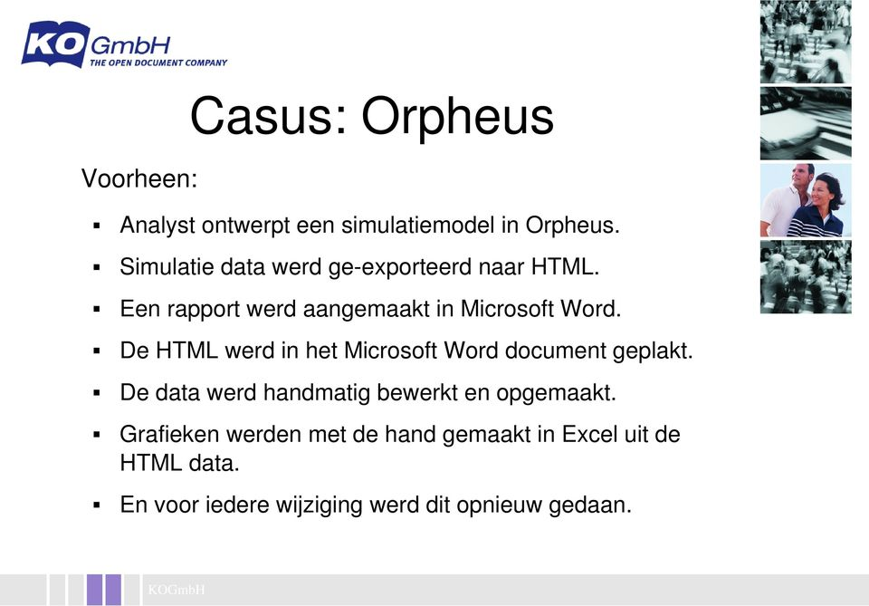 De HTML werd in het Microsoft Word document geplakt.