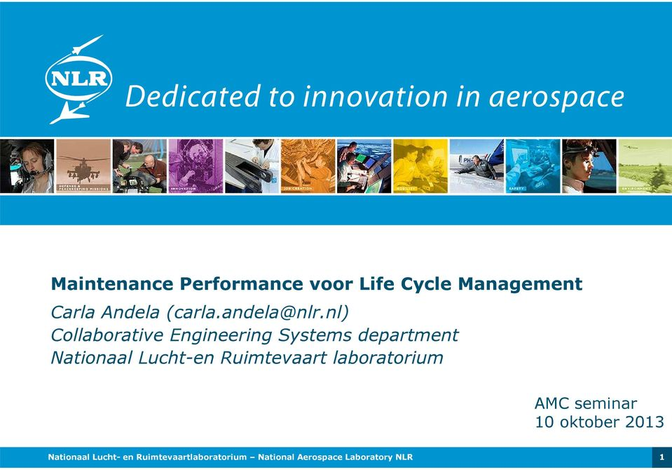 nl) Collaborative Engineering Systems department Nationaal Lucht-en